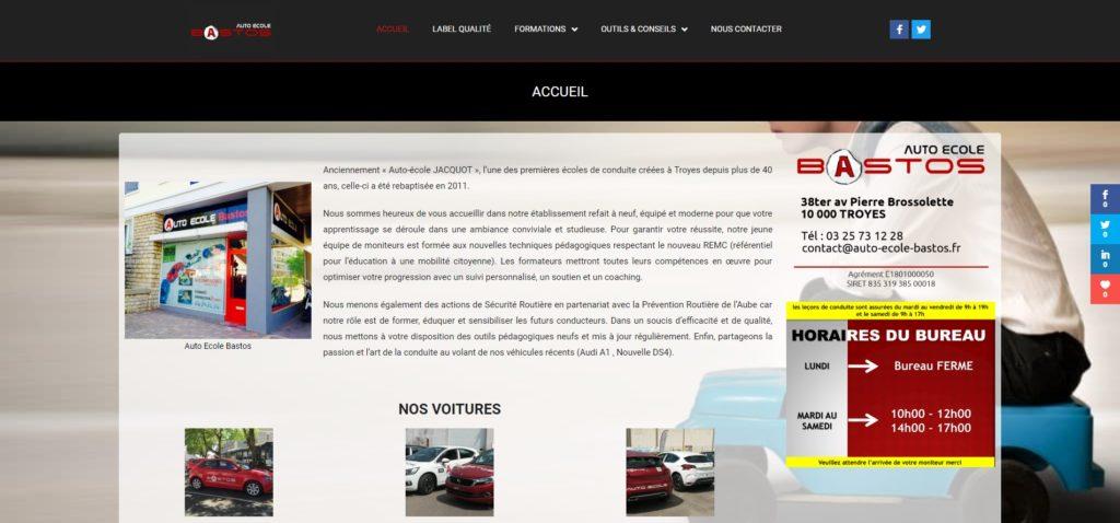 Auto École Bastos - Site Vitrine