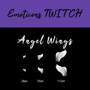 emoticon angel wings miniature