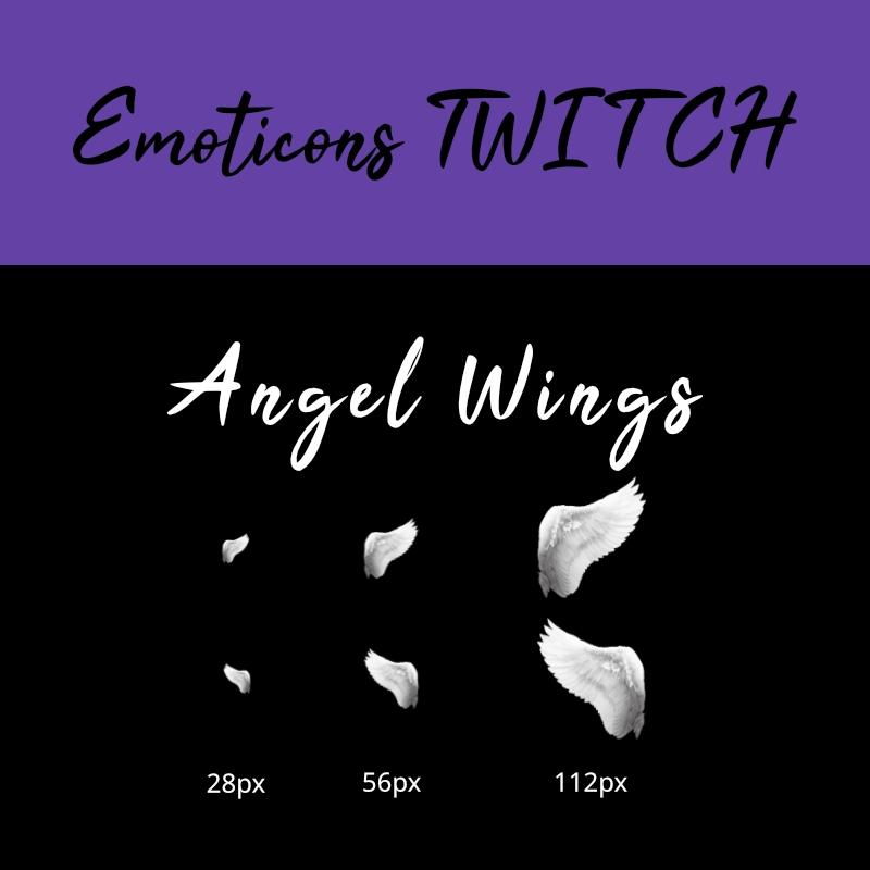 Émoticônes Twitch : ailes d'ange