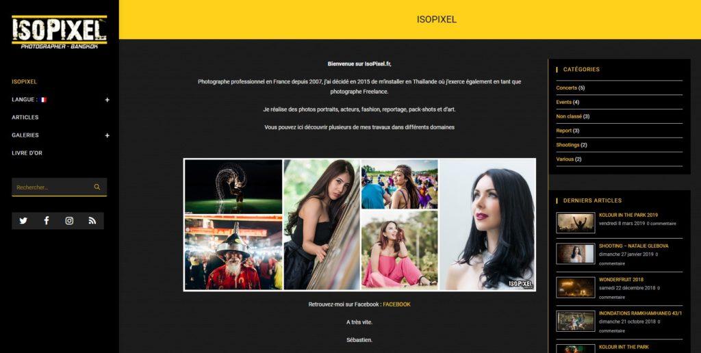 Isopixel - site vitrine - photographe
