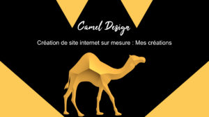 camel design : mes créations