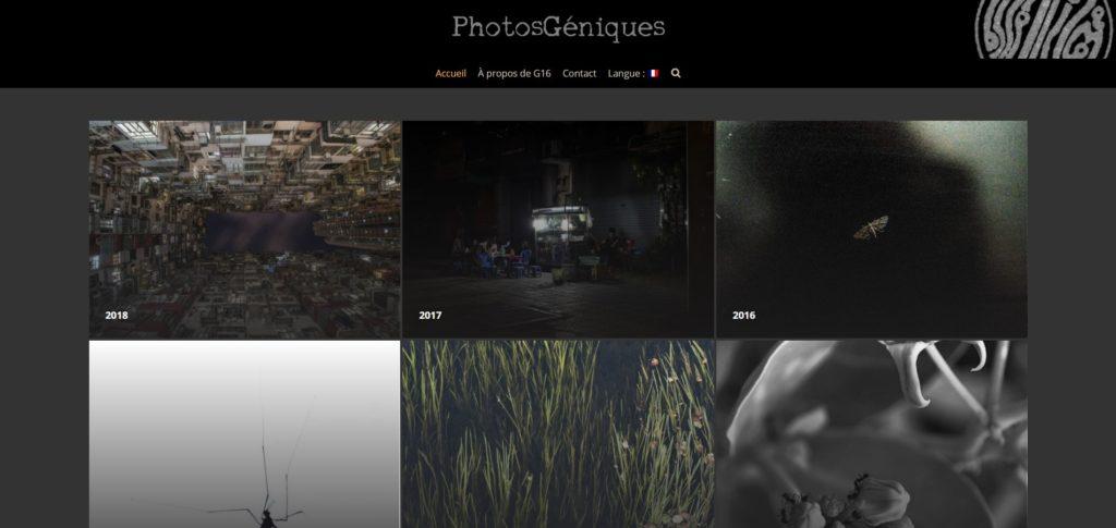 photosgéniques site vitrine camel design