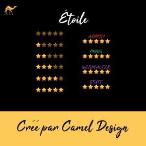 rang forum camel design etoiles