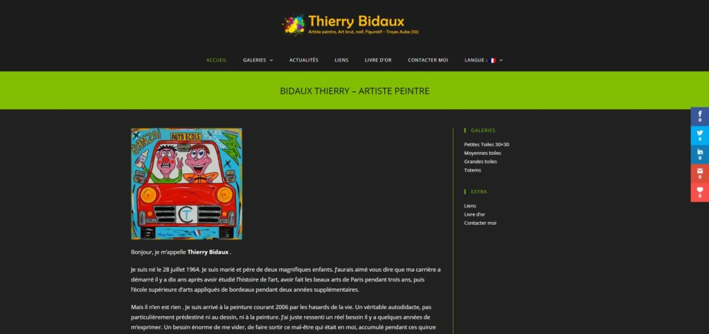 Thierry Bidaux - Artiste Peintre - Site Vitrine