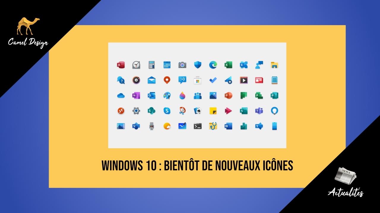nouveau icones microsoft windows 10