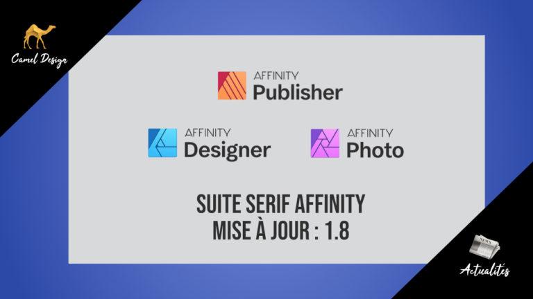 Serif Affinity mise à jour 1.8