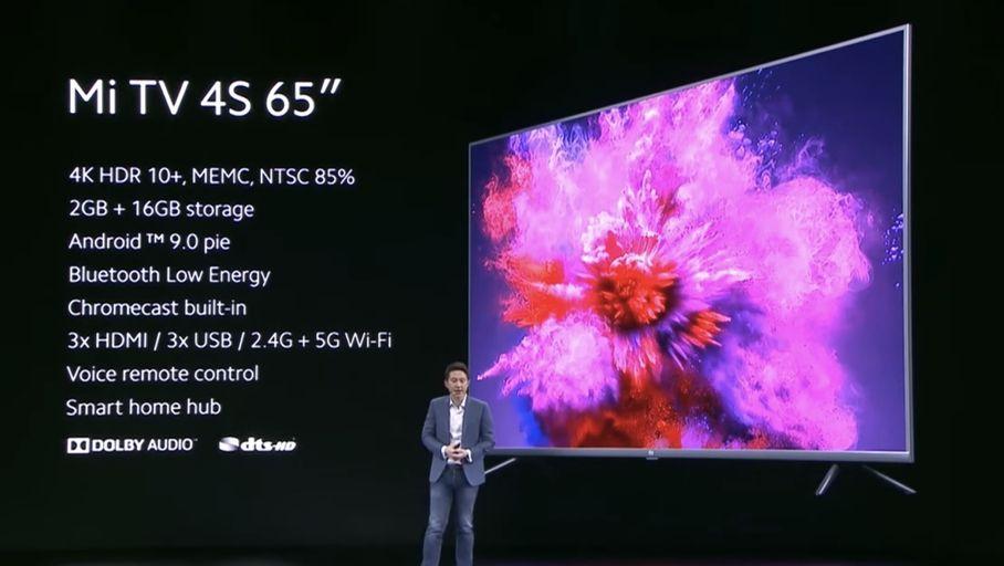Xiaomi MI TV 4S, 65 pouces