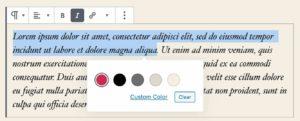 selecteur couleurs texte enrichi 02 camel design - Camel Design