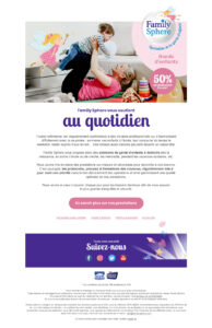 Email FamilySphere Infirmieres - Camel Design