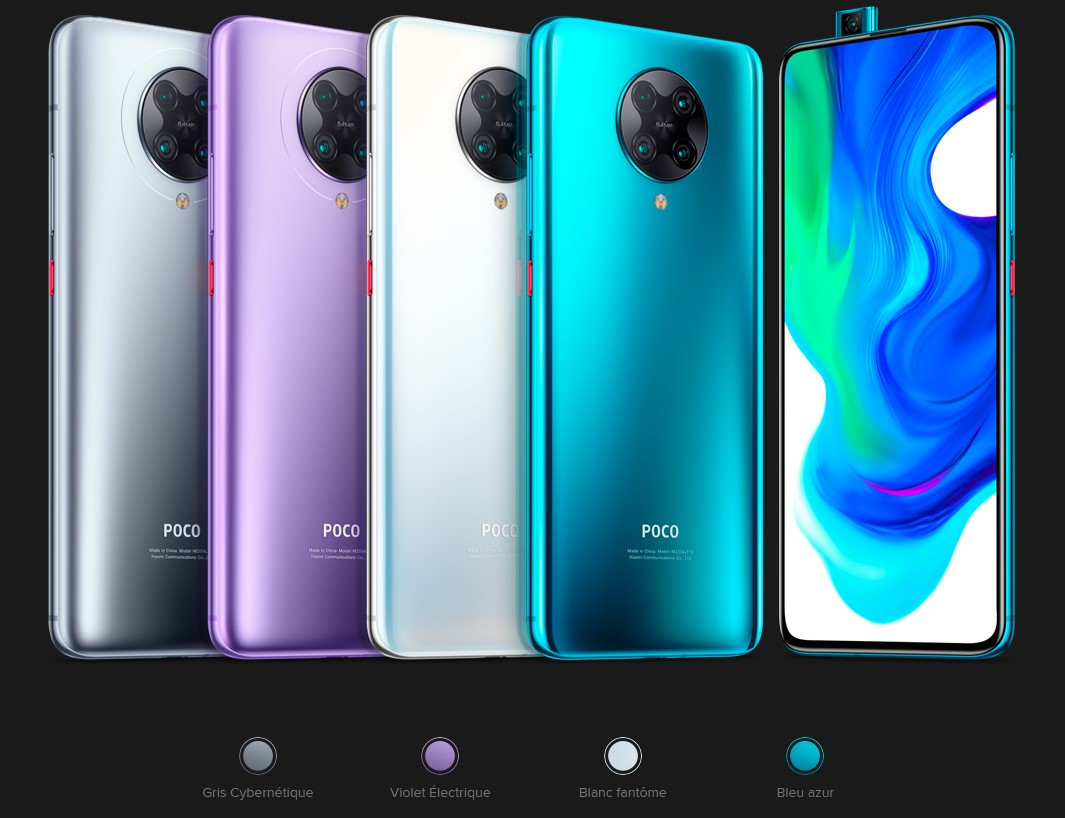 Xiaomi POCO F2 PRO : couleurs