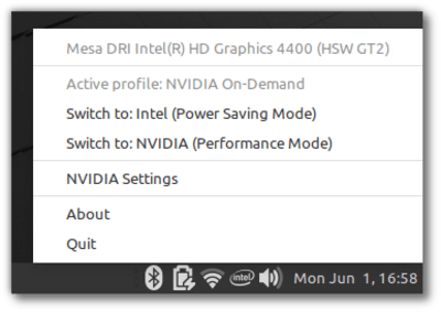 Nvidia settings sur Linux Mint 20 Ulyana