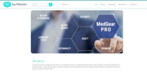 medgear PRO website - Camel Design
