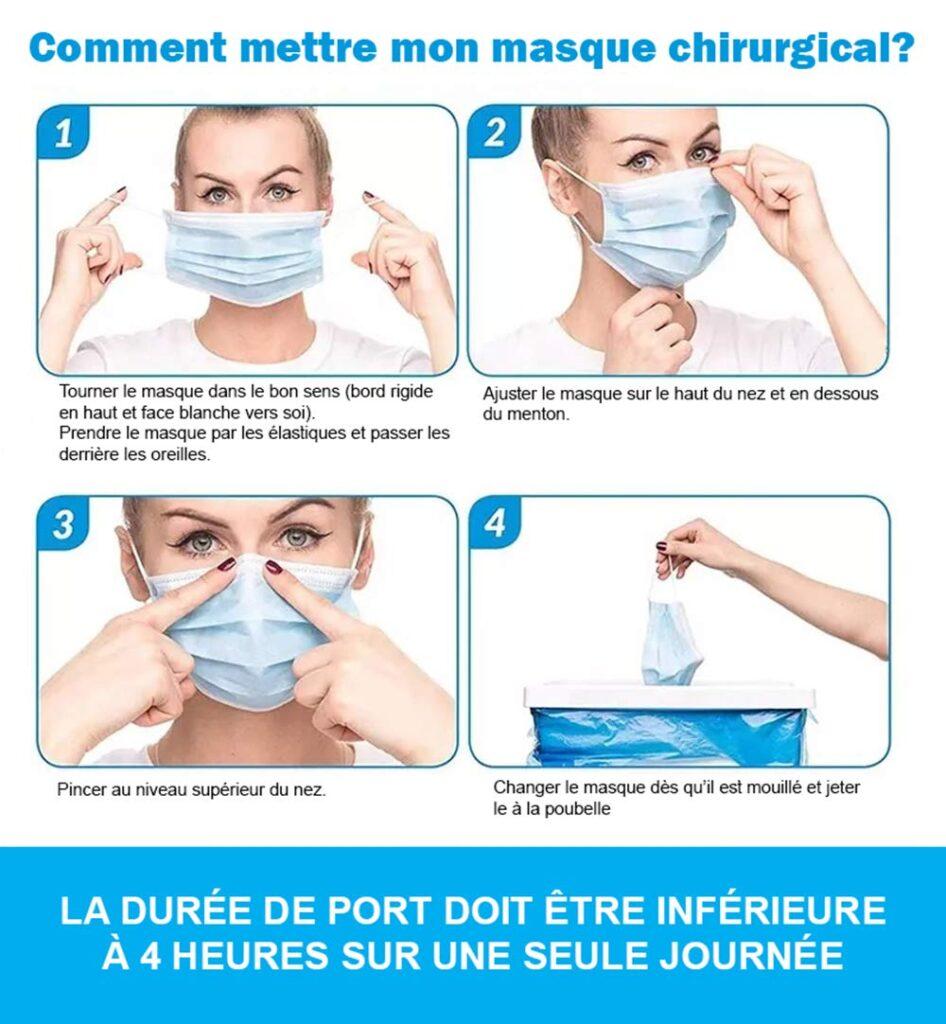 Codvid : manuel d'utilisation d'un masque
