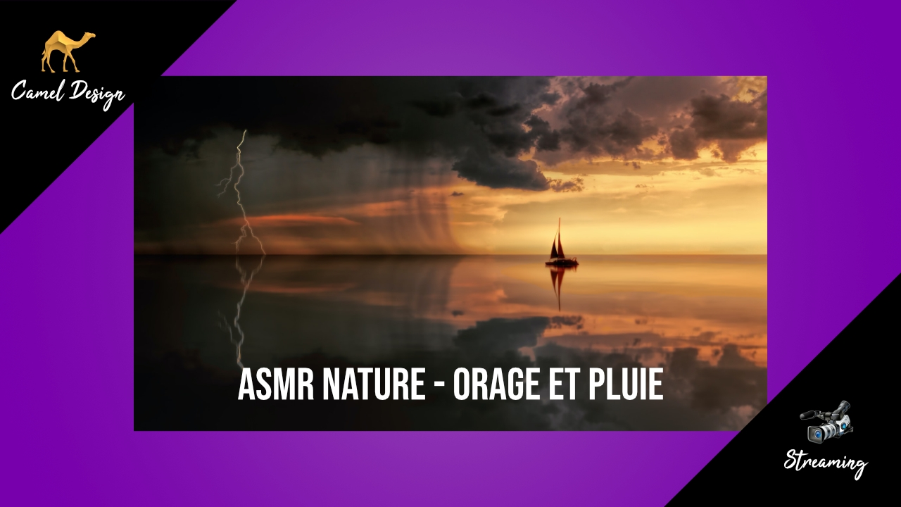 asmr nature- orage et pluie