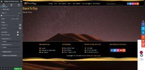 elementor pro bouton retour en haut camel design 04 - Camel Design