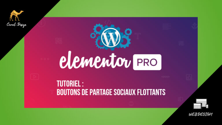 miniature tutoriel elementor pro : boutons de partage sociaux flottants