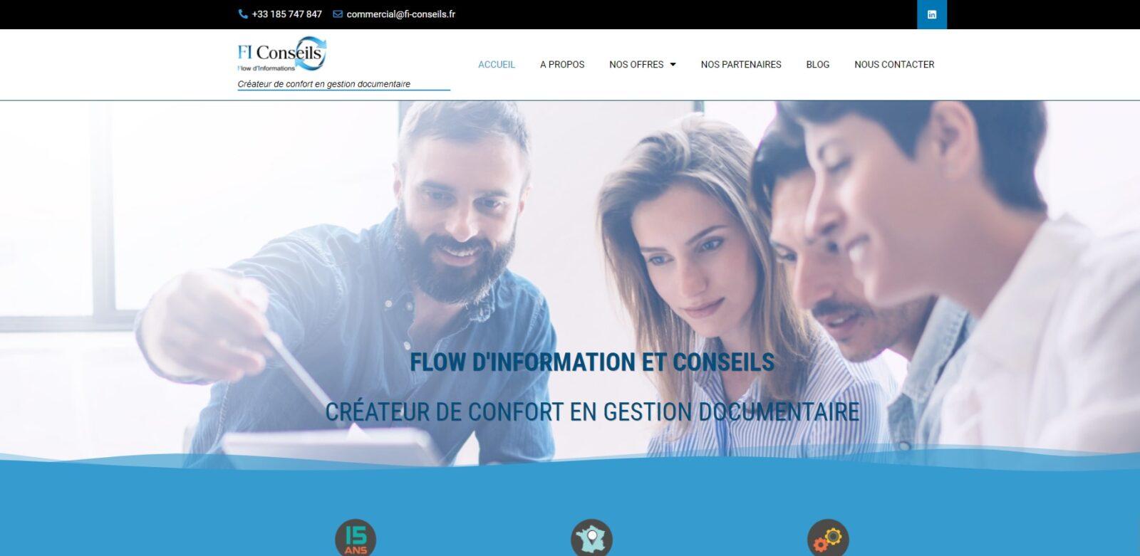 Site vitrine - FI Conseils